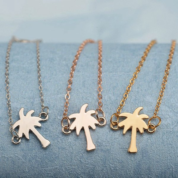 Tropical Palm Tree Charms Bracelets Friendship Gift For Women Beach Jewelry Stainless Steel Chain Pulseira Masculina