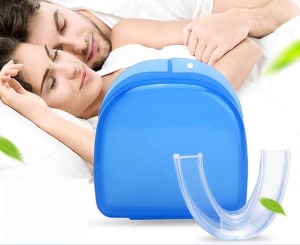 Stop Snoring Solution Anti sonre Mouthpiece Soft Silicone ABS Good Night Sleeping Apnea Guard Bruxism Tray Snoring Cessation