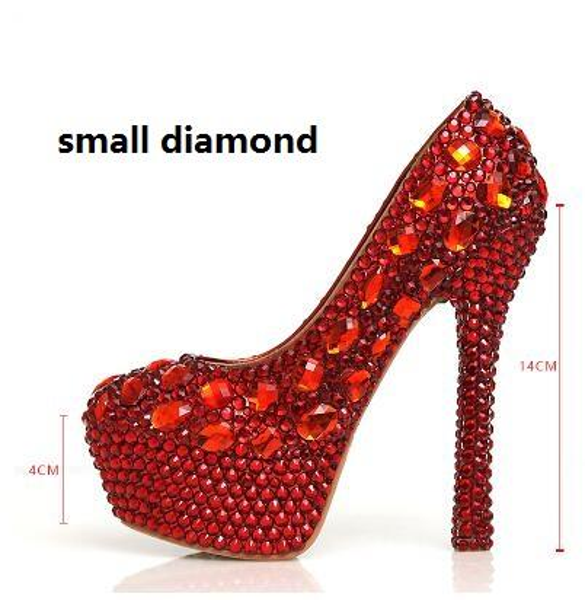 Red 14cm small diamond