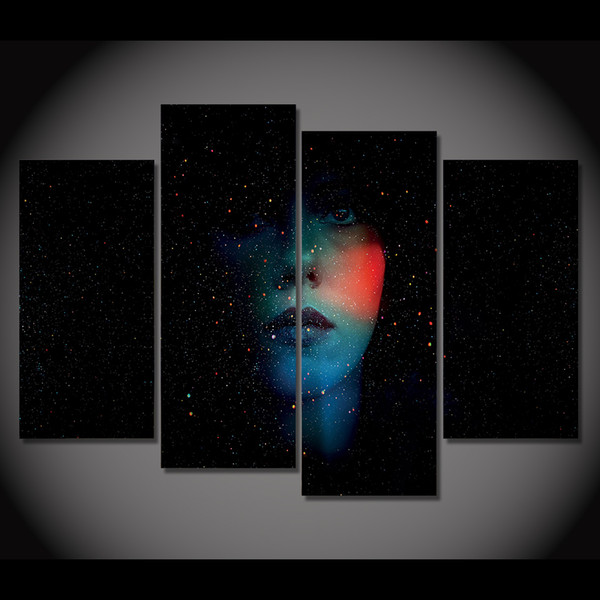 2019 Canvas Painting Canvas Art Abstract Face Shiny Dark Hd Printed Wall Art Home Decor Poster Picture For Living Room Xa057d From Weichenart 36 18