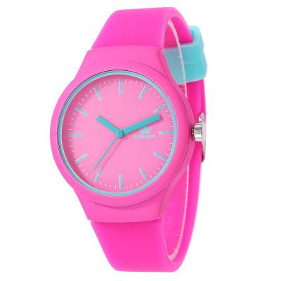 Silicone Strap Children Watches High Quality Fashion Stud Student Cartoon Watch Cheap Boys and Grils Sports Wristwatch 7 Colors Wholesale