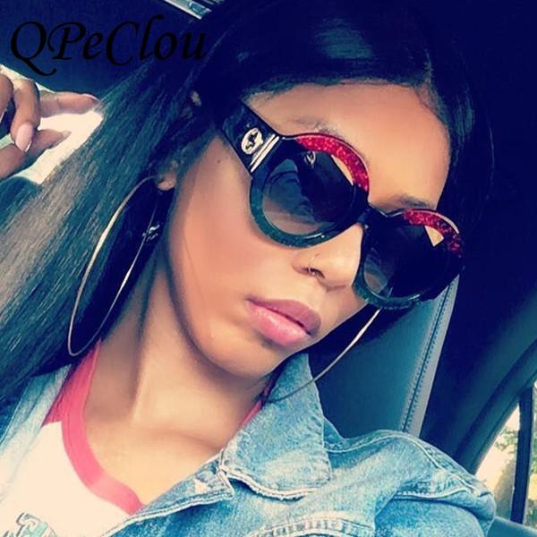 QPeClou Marca Gafas de Sol Redondas Moda Mujer 2017 Hot 3 Colores Gafas de Sol de Gradiente Femenino Gafas De Sol Para Mujer Sombras Gafas