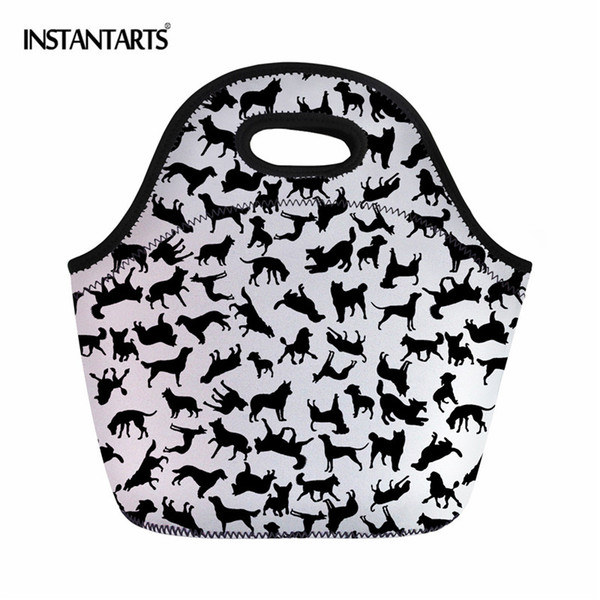 INSTANTARTS Animal Puzzle Printing Outdoor Picnic Tote Bags Hiking Camping Lunch Box Thermal Insulated Snack Handbags Kids