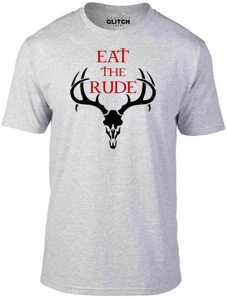 Essen Sie das unhöfliche T-Shirt - lustiges T-Shirt Retro hannibal Horror coole Jahreszeit Kannibale Cooles zufälliges Stolzt-shirt Männer Unisexneu