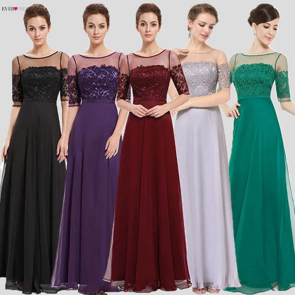 2018 Prom Dresses Ever Pretty HE08459 New Arrival Elegant Green Half Sleeves Maxi Prom Evening Gowns Prom Dresses Party Dresses C18111601