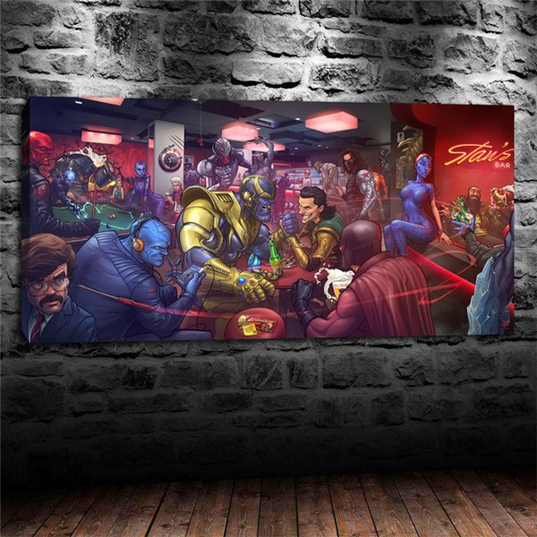 Marvel Movie Villains X-Men Johann Shmidt, Impresiones de lienzos Arte de la pared Pintura al óleo Decoración para el hogar / (Sin marco / Enmarcado)