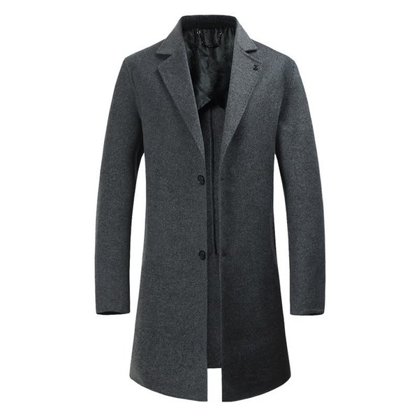 Autumn Wool Long Coats Blends Jackets Mans Winter Men overcoat trench Business Casual Male Plus size 8XL 6XL 5XL peacoat