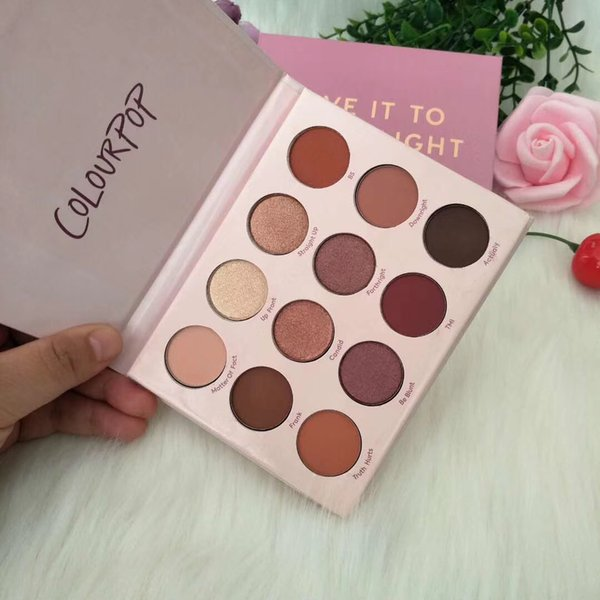Sombra de ojos de alta calidad COLOURPOP GIVE IT ME STRAIGHT Eyeshadow 12color palatte Powder Shadowed Palette Waterproof Cosmetic