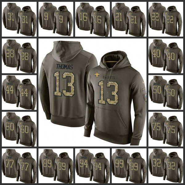 huge discount 39cf7 e2e5a 2019 2019 New Orleans Saints Embroidery Man #9 Drew Brees 13 Michael Thomas  44 Hau'Oli Kikaha 89 Josh Hill Pullover Hoodie From Jerseysoutletus, ...