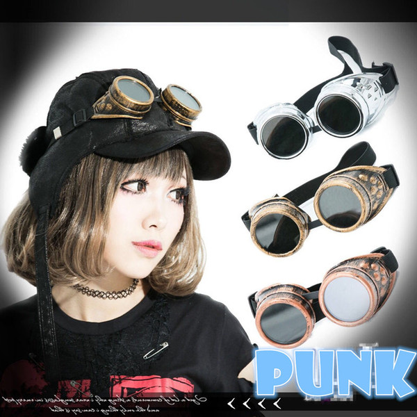 Vintage Gothic Goggles Glasses Cosplay Props Welding Punk Sunglasses Retro Gothic Steampunk Men Sun Glasses Cosplay Eyewear