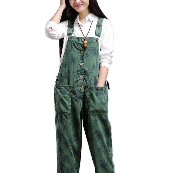 Women Elegant Trousers Camouflage Loose Baggy Hip Hop Jumpsuits Female Casual Bib Harem Pants Leisure Overalls Plus Size Rompers