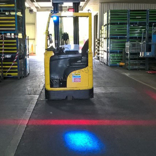 2pcs forklift danger area red zone waring light warehouse LED safety light for overhead cranes heavy machinery agricultural equipment