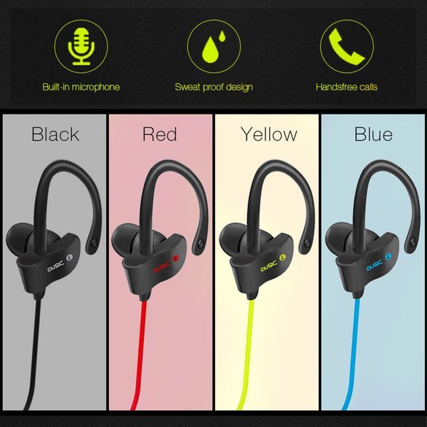 Bluetooth Headphones V4.1 Wireless Stereo Bluetooth Earphones for In-ear Earbuds with Mic for iOS and Android Cell phone in stock free ship