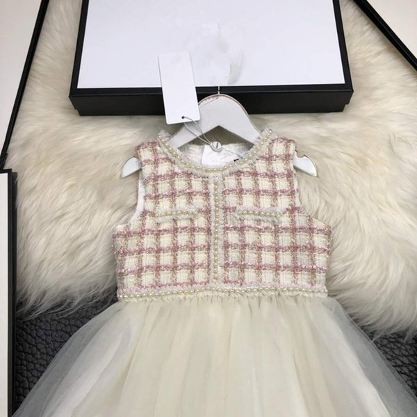 Compre Las Niñas Visten Chaleco Costura Moda Temperamento De Alta ...