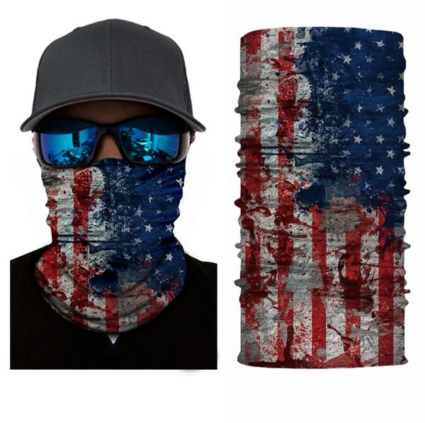 Promotional Cooling Motorcycle Flag Bandana Face Mask