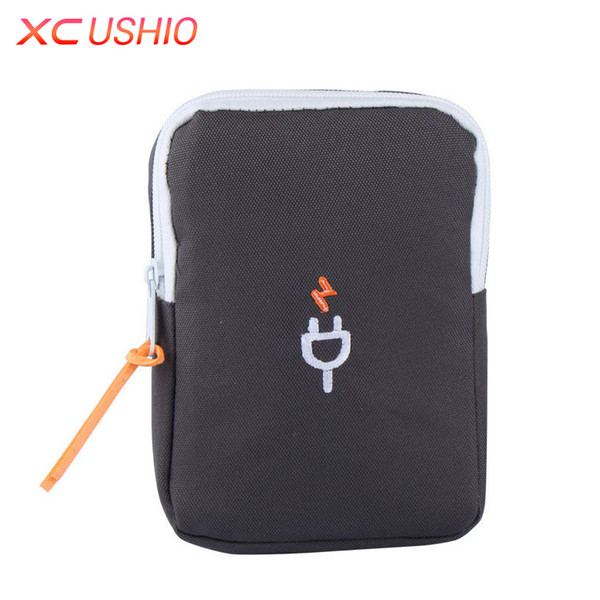 Portable Travel Digital Device Storage Bag Multifunctional Charger Data Cable Cell Phone Organizer Bag Finishing Pouch