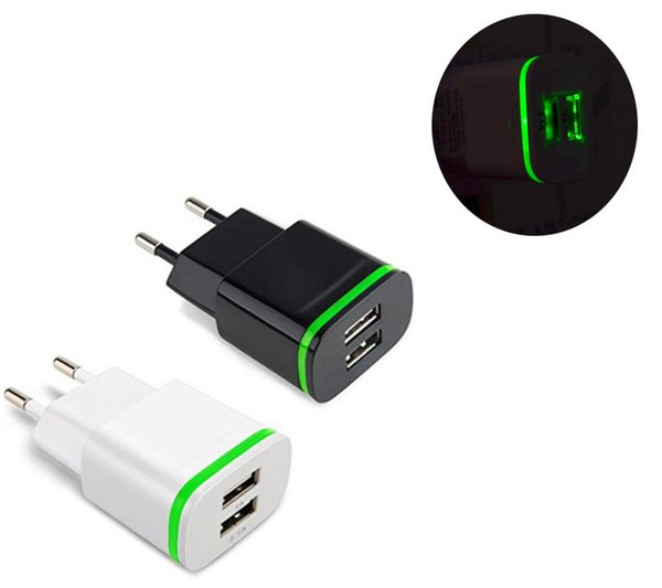 5V 2.1A Smart Travel Dual 2 USB Charger Adapter Wall Portable EU Plug Mobile Phone for ZTE Small Fresh Xiaoxian 4 Axon Elite