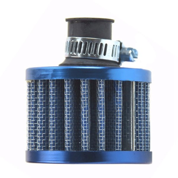 VODOOL Car Air Intake Filter 12mm Blue Mini Car Motor High Flow Cold Air Intake Filter Turbo Vent Crank Auto Cleaner