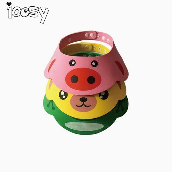 Adjustable Kids Shower Cap Children Adjust Shampoo Shower Bathing Bath Protect Soft Cap Baby Accessory For Bathroom A6D15
