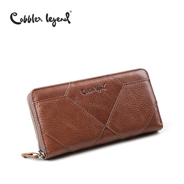 Cobbler Legend New Diamond modello borsa vintage lungo in pelle di vacchetta donne portafoglio cerniera borsa portafoglio porta telefono femminile