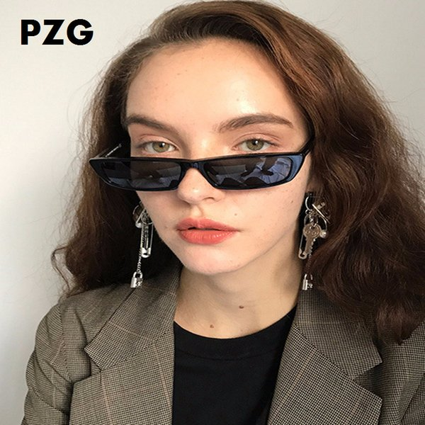 PZG fashion Small Picture Frame Rectangle Eyewear Narrow Glasses For Male And Female SunGlasses Woman 2018 Luxury Brands