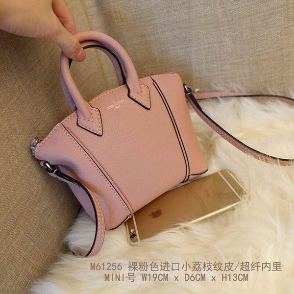 vvtisks8 M61256 nude pink kleine lychee leder mini nano lockit handtasche iconic bags schultertasche totes cross body business messenger bags