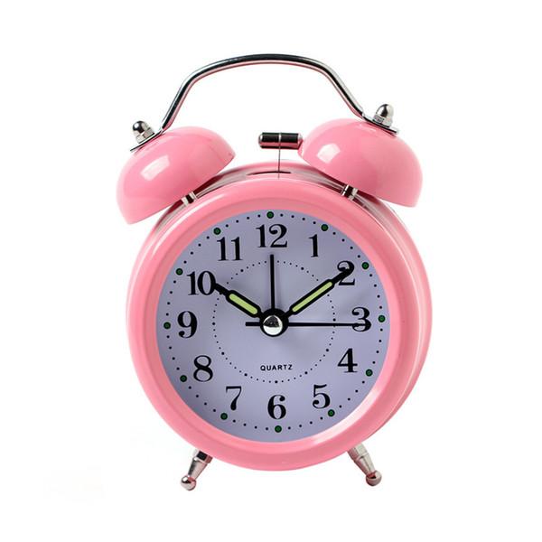 Hot Sale Alarm Clock Classical Double Bell Silent No Ticking Desk Table Alarm Clock Bedroom Office Bedside