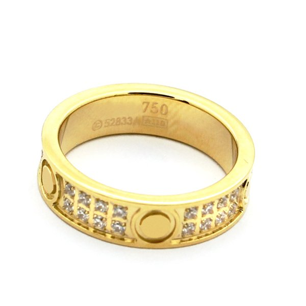 TOP new high quality fashion brand titanium steel ring screw love ring suitable for the ball and couple gift
