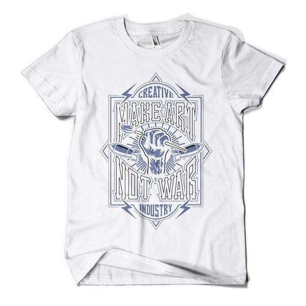 Fazer Arte Impresso T-SHIRT Hipster Design Urbano Streetwear Das Mulheres Dos Homens Tee Top New Cool casual t shirt do orgulho dos homens Unisex Nova Moda