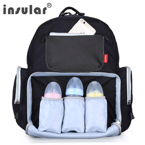 INSULAR Fashion Mummy Maternity Diaper Nappy Bag Large Capacity Nappy Backpack Baby Nursing Bag Mummy Travel Baby Care Sets