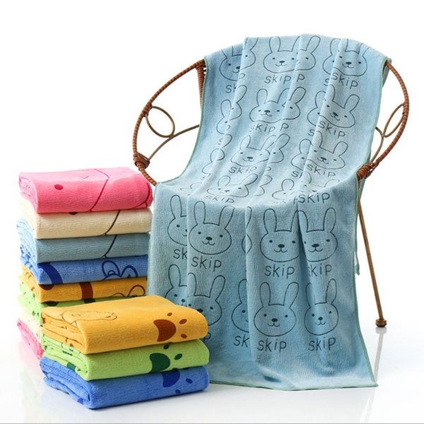 140*70cm Pet Towel Microfiber Fiber Strong Absorbing Bath Pet Dog Super-sized Towels Teddy Pug Bulldog Bathing Wiping Water