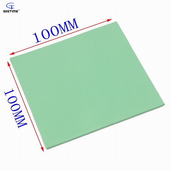 Fan Fans Cooling 1 Pieces Green 100*100*2 Thermal Conductive Silicone Pad 2mm Thickness for Notebook Laptop Chips Cooling 100mm