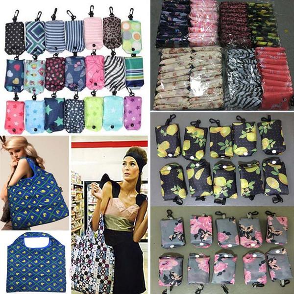 Reusable Shopping Bags Nylon Fruits Vegetable Foldable Storage Bag Eco Friendly Handbag Bags Tote For Kitchen Sundries Organizer HH7-1110