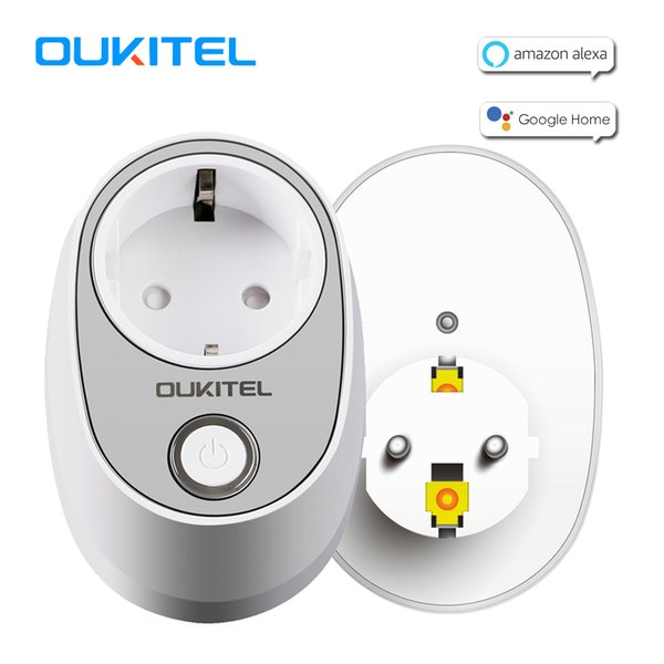 OUKITEL P2 WiFi Plug EU Type E Smart Socket Smart Remote Control Home Electric Mini Socket for Alexa Google Home
