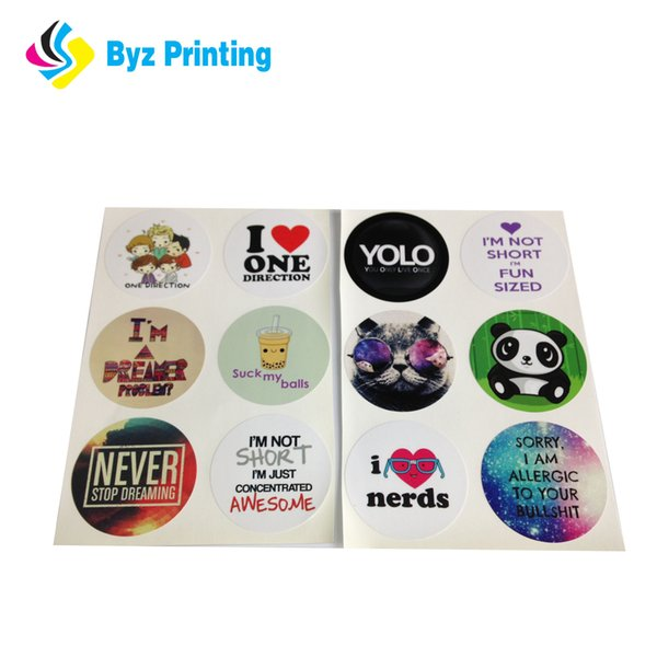 Promotional custom printing paper label sticker, printed round stickers, self adhesive label