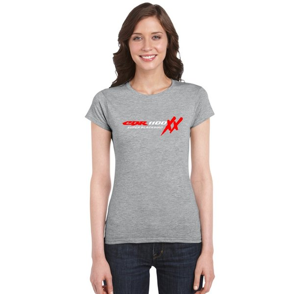 Stylish Women Basic T-Shirts S135 TOP HONDA CBR 1100 XX SUPER BLACKBIRD TShirt motorcycles Fans Pure Cotton Tee Lady's Sport Fitness T Shirt