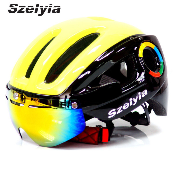 2018 Szelyia Cycling Helmet glasses M Mtb Mountain Road Bike Bicycle Helmet 3 lens visor Cascos mtb bicicleta Ciclismo bike