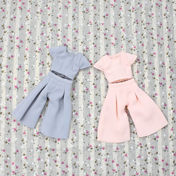 blythe doll pink Fortune Days Blyth doll Pink and Grey short sleeve and cropped trousers for JOINT body cute dressing Factory Blyth