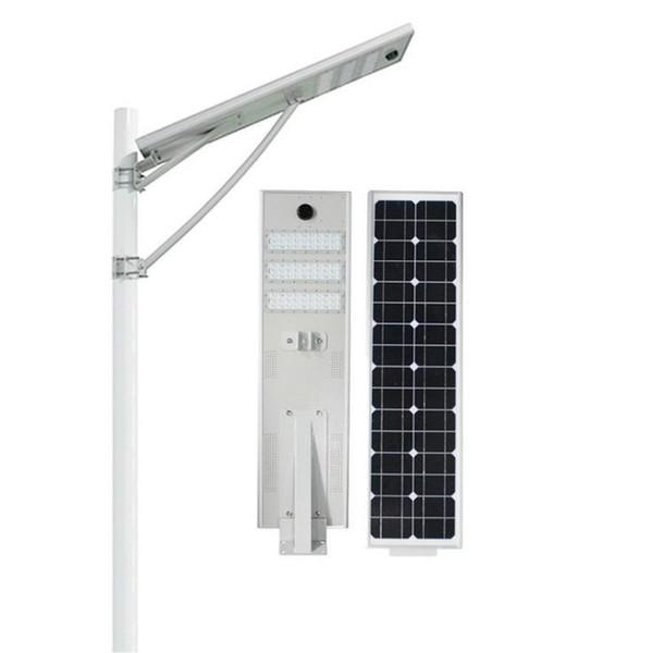 Luce stradale solare da 20W 30W 50W LED Esterna Impermeabile IP66 Design integrato Sensore radar Sensore PIR Luce intelligente