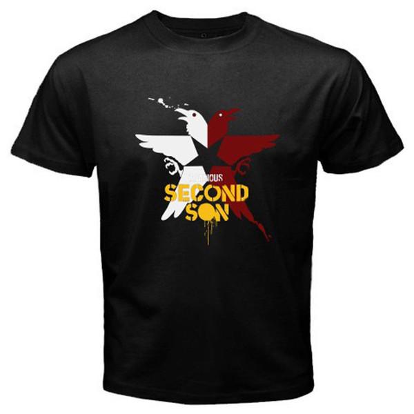 New inFAMOUS Second Son Superhuman Action Game Men's Black T-Shirt Size S-3XL T Shirt Hot Topic Men Short Sleeve O-Neck