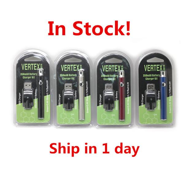 Vertex Co2 VV Pré-aqueça Kits de Bateria LO Battery Co2 Vaporizador de Óleo O Pen 510 Vape Pen Pré-aqueça Baterias 350mah BOGO Ce3 Cartucho Puff