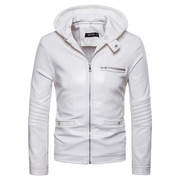 fast color boy real quality 2019 Mens White Leather Jacket Motorcycle Jacket Young Men Slim Fit Zipper  Blazers For Boys US Fashion From Aaronliu880, $46.71 | DHgate.Com