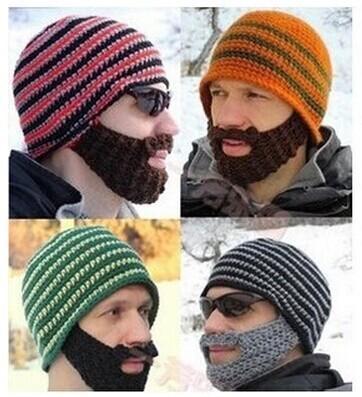 Hüte Beanie Skull Caps Bearded Wool Strickmützen Bart Strickmütze Warmer Ski Bike Skull Hat Unisex-Bart-Mütze Weihnachtsmütze