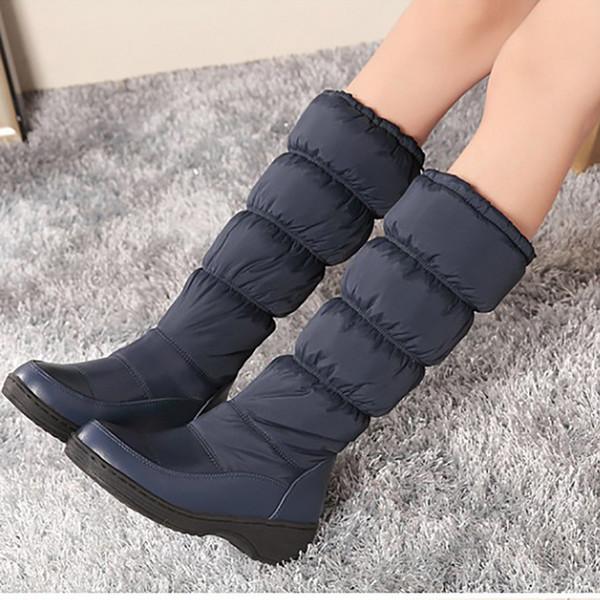 Stiefel Größe Weiß Blau Cm Schneeschuhe Schwarz Mode Plus Heels Down Frauen 4 Schuhe Damen Winter Plattform 5 44 Block Von Mitte Großhandel Kalb 8wOmnyvN0