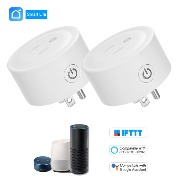 2pcs/Lot US Smart Plug WiFi Socket APP Voice Remote Control For Alexa Google Home IFTTT Timing on/off Samrt Electric Mini Socket