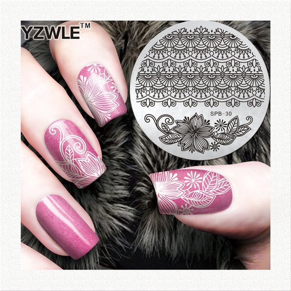 YZWLE New Stamp Polish Steel Nail Art Templates Sexy Image Stainless DIY Nail Stamping Plates Manicure