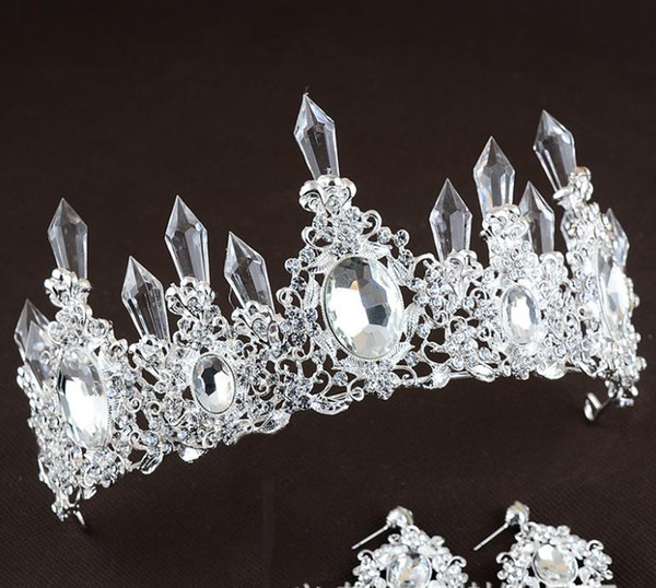 Wedding dresses, accessories, crystal icicles, crown ornaments, crystal alloy hoops, queen hair accessories.