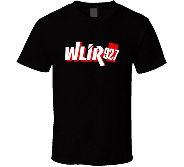 Wlir 92.7 Radio Station T Shirt Mens Tee Men Casual Short Sleeve T Shirts