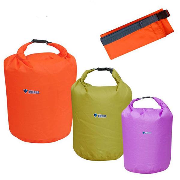 Terylene Portable 10L Waterproof Bag Ultralight Storage Dry Bag 210T with Shoulder Strap 5 Color X016