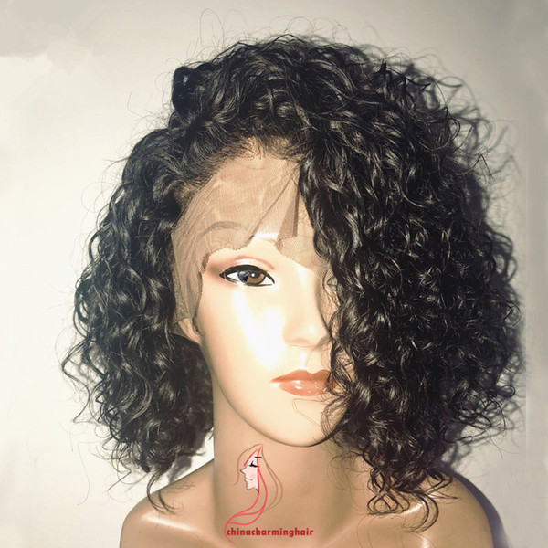 150% Bob hair cut style Lace Wigs wet wave bob Lace Front Hair Wigs curly style For Black Women